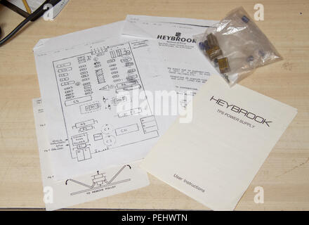 User manual and upgrade instructions for Heybrook  TPS electronic speed control - Stock Image