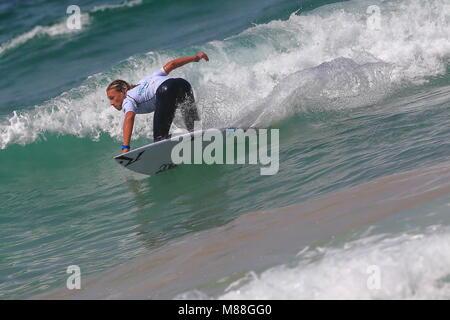 Australia, Sydney. 02nd, Mar 2016. Lliam Mortensen from Australia surfing during a qualification session, day three, - Stock Image