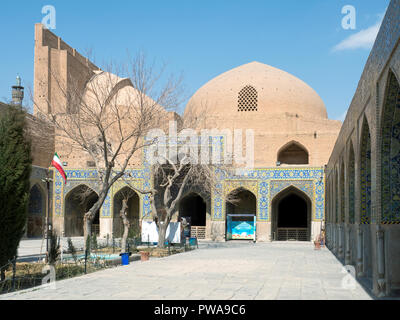 Garden in a yard of Shah mosque, Isfahan, Iran - Stock Image