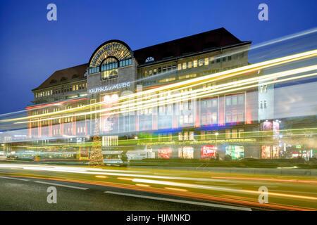 KDW,  Ka De We, Christmas illumination, City West, Berlin - Stock Image