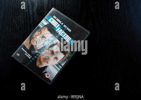 DVD of Cuba Gooding Jnr and Skeet Ulrich thriller Chill Factor - Stock Image