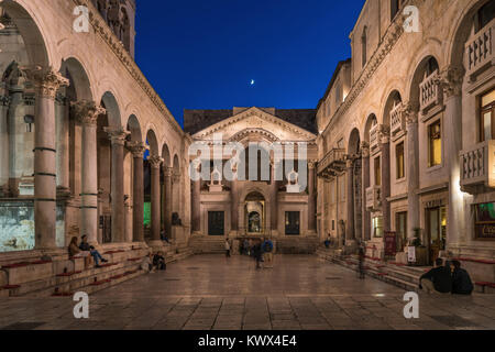 Peristyle,  Diocletian Palace, Split, Croatia - Stock Image