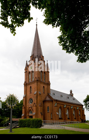 The Tycho Brahe museum in the abandoned church on the island of Hven in Oresund - Stock Image