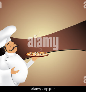Chef background and banner - Stock Image