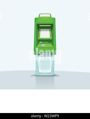 atm on bright background - Stock Image