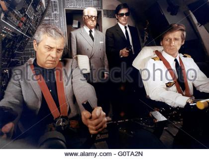 Jean Gabin and Alain Delon  / The Sicilian Clan / 1969 directed by Henri Verneuil  (Les Productions Fox Europa / - Stock Image