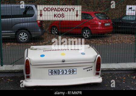 The Trabant Museum Prague Motol of Trabant cars, produced in former East Germany, Prague, Czech Republic, November 13, 2018. (CTK Photo/Milos Ruml) - Stock Image