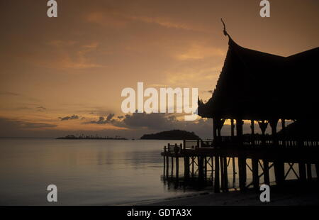 The Beach at Pantai Cenang on the coast of Langkawi Island in the northwest of Malaysia - Stock Image