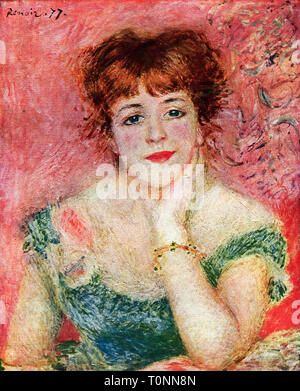 Pierre Auguste Renoir, Portrait of the actress Jeanne Samary, 1877 - Stock Image