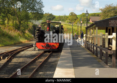 Great Western Engine Standing in Devil's Bridge Station - Stock Image