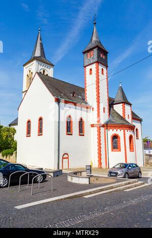 The Saalkirche, Ingelheim am Rhein, Germany. 21st June 2018. - Stock Image
