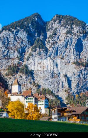 Wimmis castle, Berner Oberland, Switzerland - Stock Image