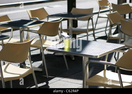 Tables at terrace - Stock Image