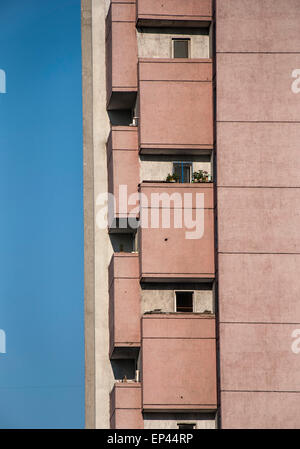Residental building in Pyongyang, North Korea, DPRK - Stock Image
