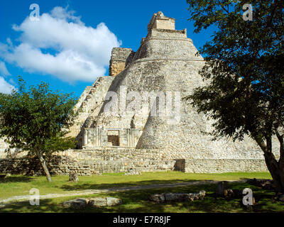 The Magicians House at Uxmal - Stock Image