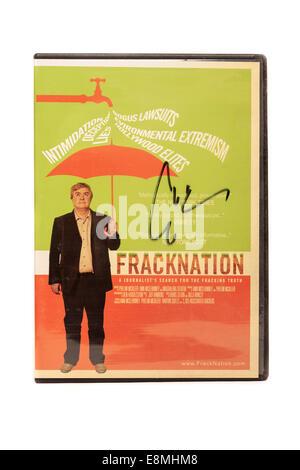 'Fracknation' fracking movie signed by movie director Ann McElhinney - Stock Image