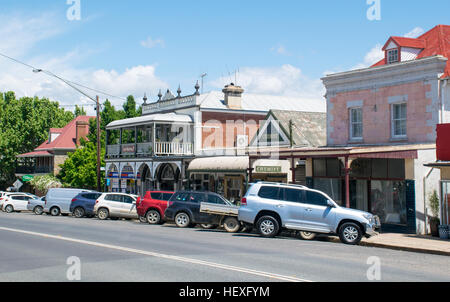 A short drive from the Australian capital in Canberra is the small and pretty town of Braidwood, NSW. - Stock Image