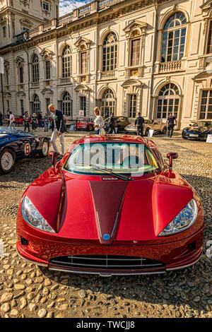 Piedmont Turin - Turin auto show 2019  - Valentino park - Valentino castle -Covini Engeneering - Stock Image