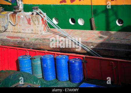 Colourful still life details at the docks in Kingstown, St Vincent - Stock Image