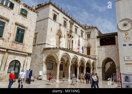 Sponza Palace in the Old City of Dubrovnik, Croatia. - Stock Image