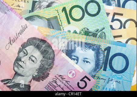 Australian banknotes - Stock Image