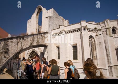 Portugal Lisbon Convento do Carmo - Stock Image