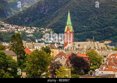 St Johns Church On The Hillside, Bergen, Norway - Stock Image