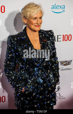 Actress Glenn Close attends TIME 100 GALA on April 23 in New York City - Stock Image