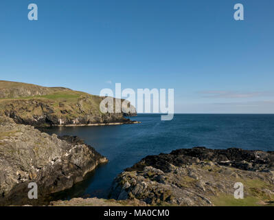 RS 8019  South Coast near the Sound, Isle of Man - Stock Image