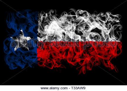 Smoking flag of Texas - Stock Image