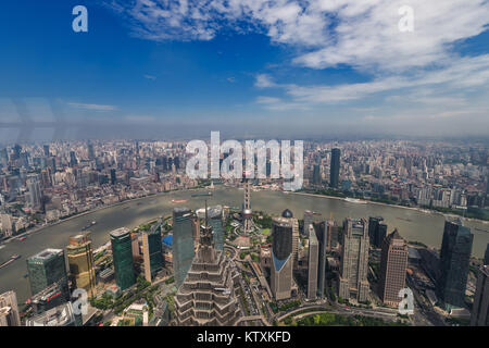 View from Shanghai World Financial Center - Stock Image