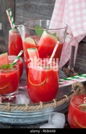 Fruity Cocktail With Water Melon - Stock Image