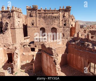 Glaoui Kasbah in Telouet, Atlas Mountains, Morocco - Stock Image
