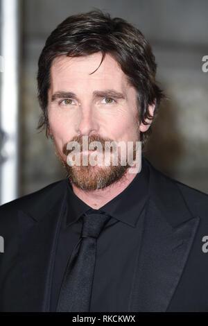 London, UK. 10th Feb, 2019. LONDON, UK. February 10, 2019: Christian Bale arriving for the BAFTA Film Awards 2019 at the Royal Albert Hall, London. Picture: Steve Vas/Featureflash Credit: Paul Smith/Alamy Live News - Stock Image