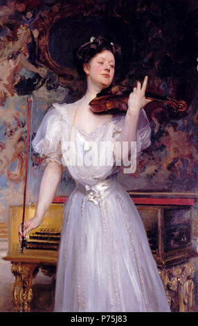 .  English: Portrait of Lady Speyer  1907 154 Lady Speyer by John Singer Sargent - Stock Image