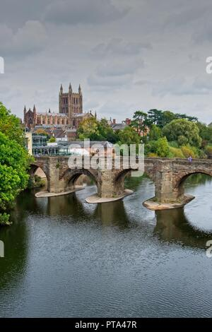 Hereford Cathedral, Hereford, Herefordshire - Stock Image