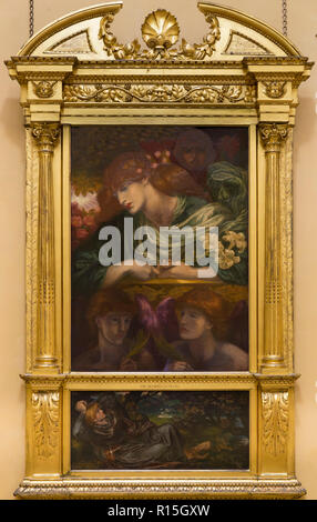 The Blessed Damozel, Dante Gabriel Rossetti, 1873-1880, Lady Lever Art Gallery, Port Sunlight, Liverpool, England, UK, Europe - Stock Image