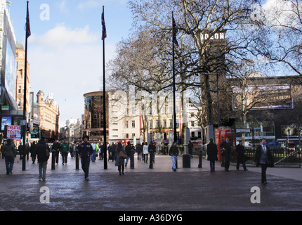 Leicester Square London in winter - Stock Image