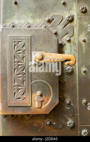Czech Republic, Prague. Door handle to St. Vitus Cathedral. Credit as: Wendy Kaveney / Jaynes Gallery / DanitaDelimont.com - Stock Image