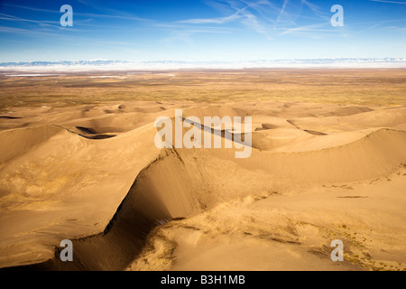 Scenic landscape of Great Sand Dunes National Park in Colorado USA - Stock Image