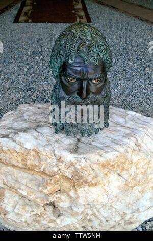Sculpture of Thracian King Seuthes III  - Kostmatka Funeral tumulus -Valley of the Thracian Kings in Kazanlak- Province of Stara Zagora.BULGARIA - Stock Image