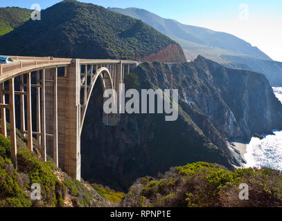 Bixby Bridge Crossing a Chasm - Stock Image