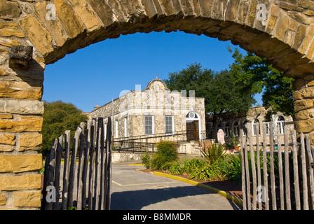 Mission San José y San Miguel de Aguayo San Antonio Texas tx tourist attraction national landmark spanish colonial - Stock Image