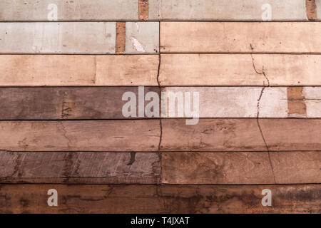 Close up, Old wood plank wall texture, vintage style concept background. - Stock Image