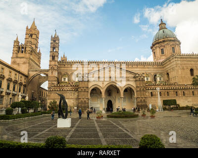 Palermo Cathedral, city of Palermo, Sicily, Italy - Stock Image