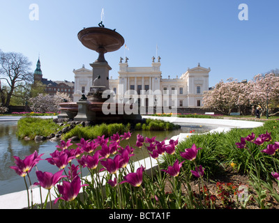 The Main University Building of Lund University in spring. - Stock Image