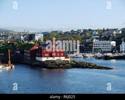 Entering the harbour at Torshavn Faroe Islands - Stock Image