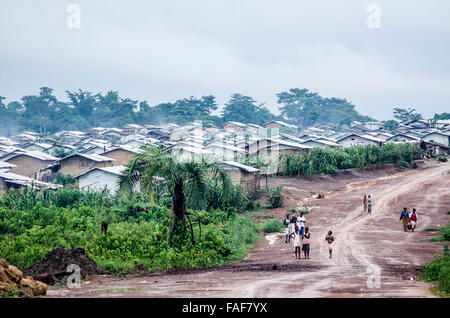 PTP refugee camp in eastern Liberia. - Stock Image