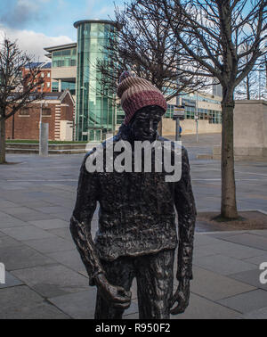 `Sheep on the Road' artwork in Belfast city centre - Stock Image