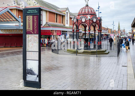 Dartmouth Square, West Bromwich town centre, West Midlands, England, UK - Stock Image